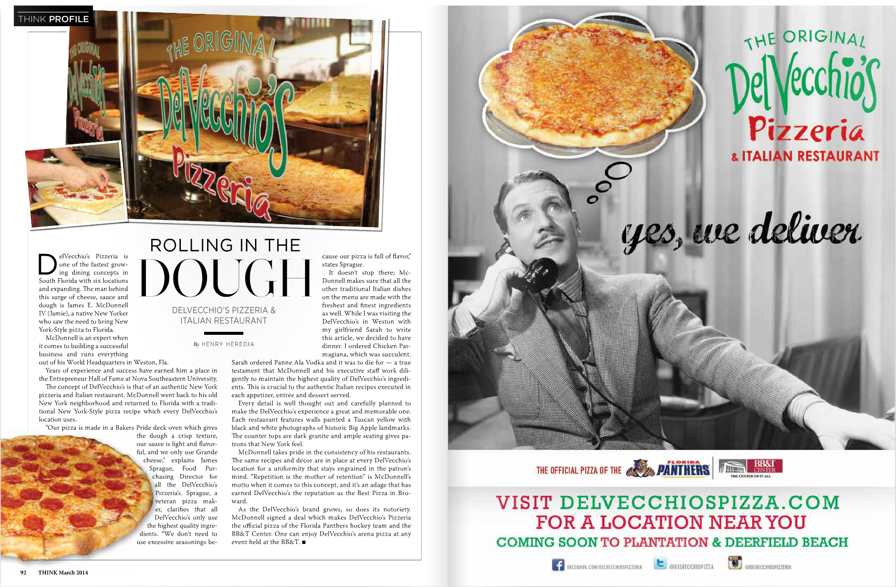 DelVecchio's Featured in Think Magazine