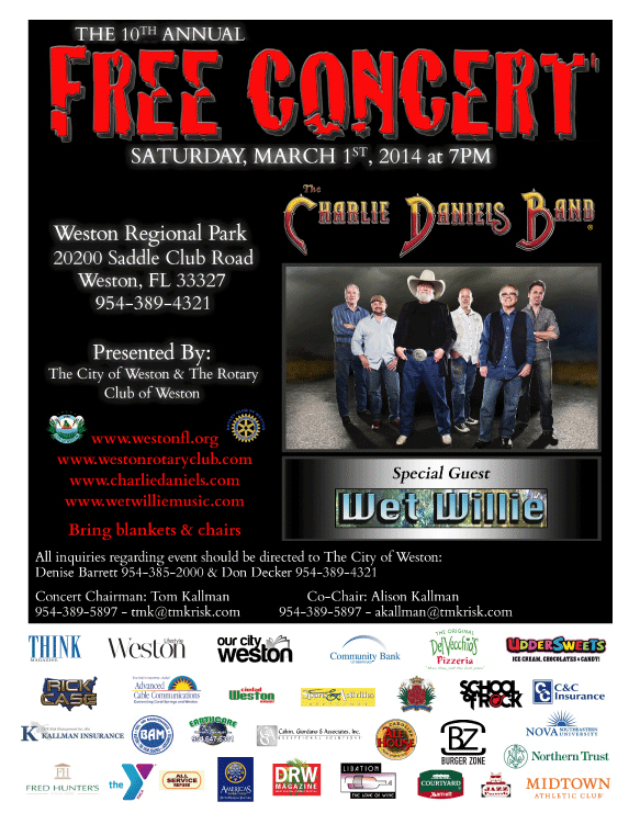 Free concert in weston